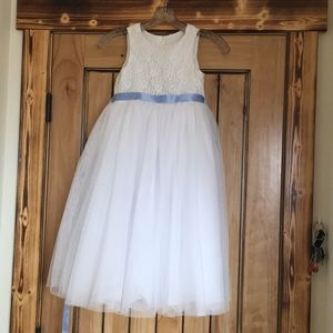 A youth flower girl dress.